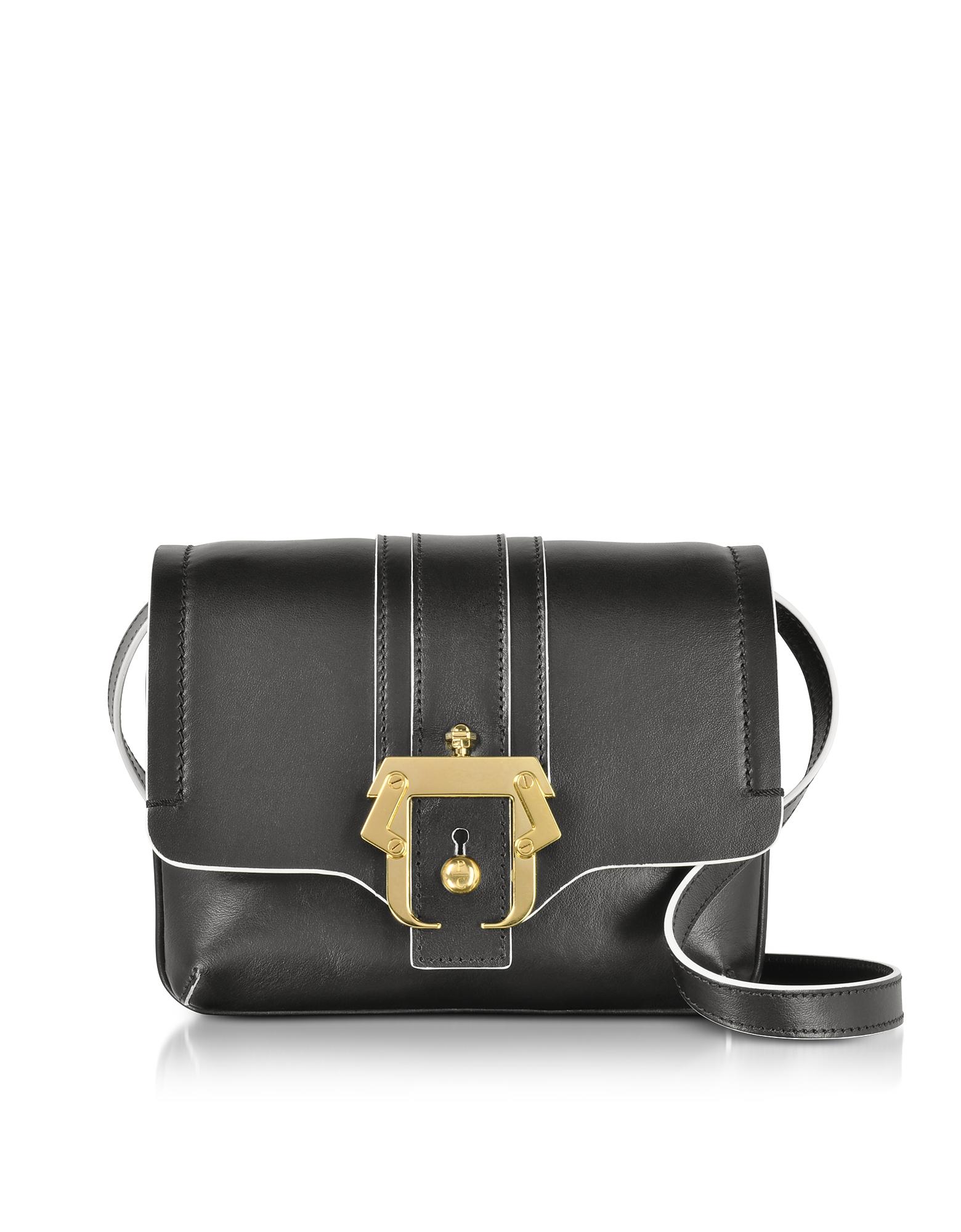 Paula Cademartori Handbags, Black Leather Gigi Crossbody Bag