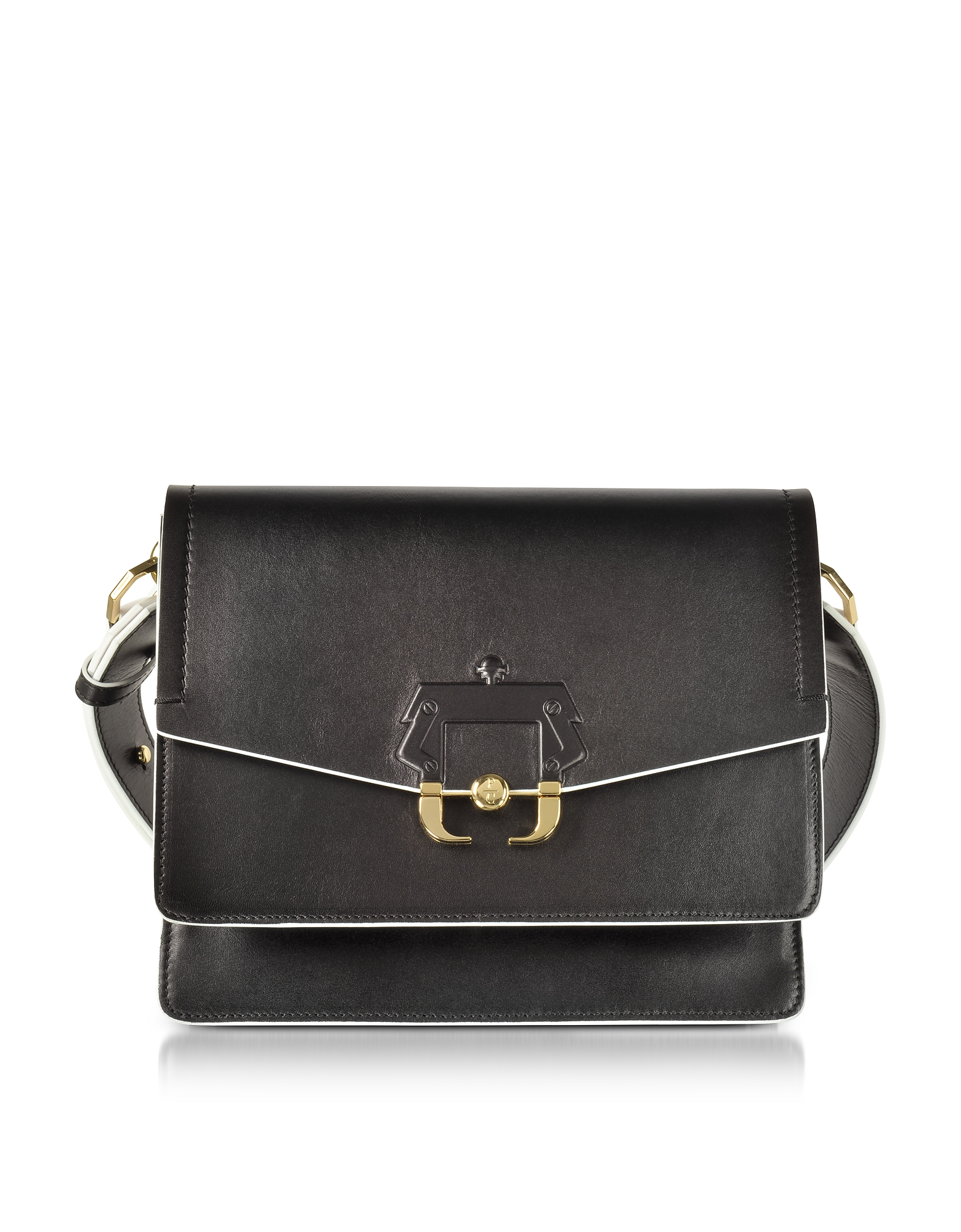 Paula Cademartori Handbags, Black Leather Twiggy Shoulder Bag
