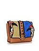Alice Secret Garden Leather and Suede Shoulder Bag - Paula Cademartori