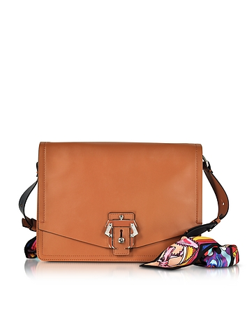 Paula Cademartori - Lola Cognac Leather Shoulder Bag