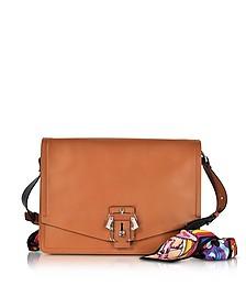 Lola Cognac Leather Shoulder Bag - Paula Cademartori