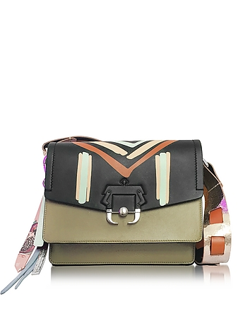 Twiggy Multicolor Leather Shoulder Bag