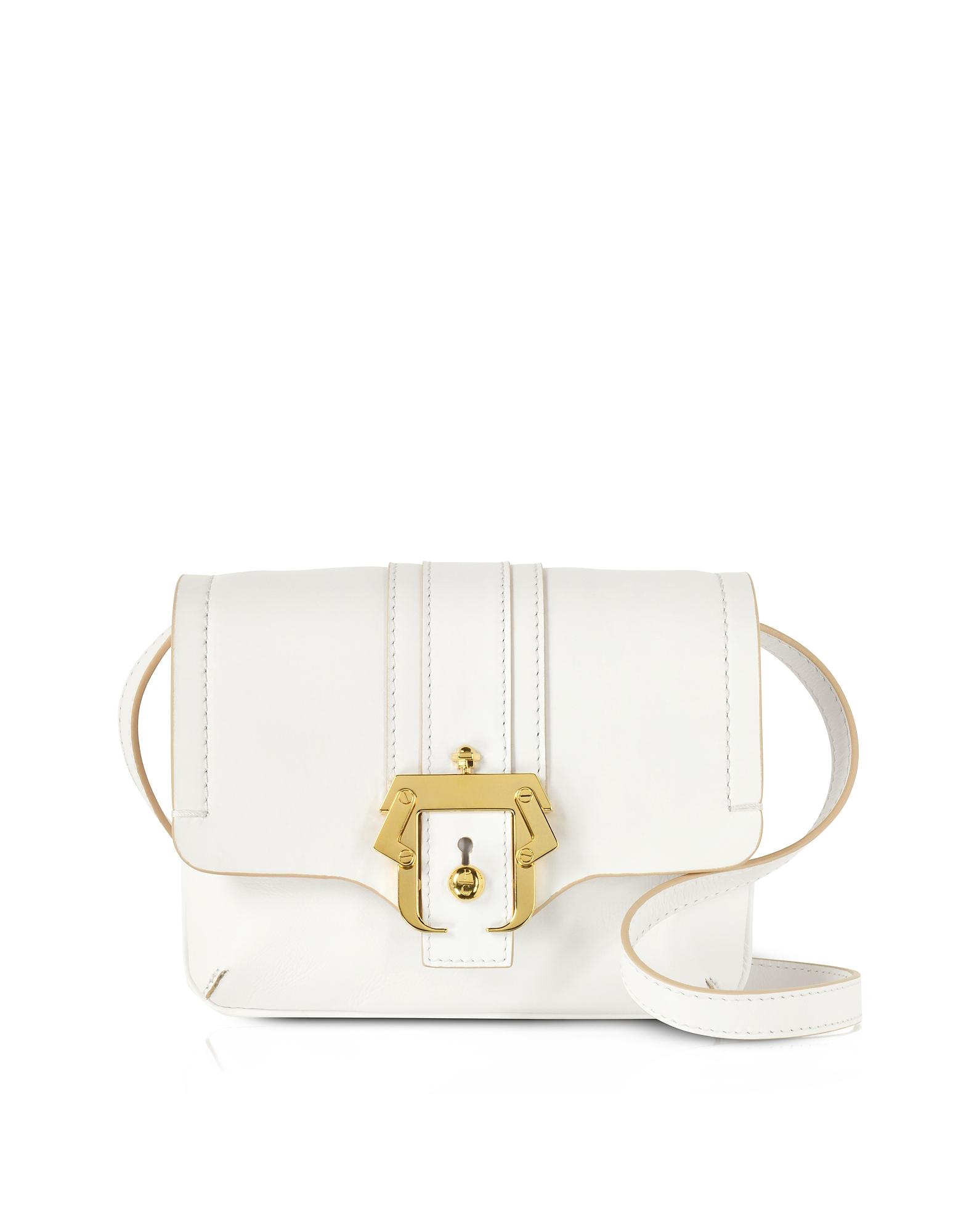 Paula Cademartori Handbags, Cloud Dancer Leather Gigi Crossbody Bag