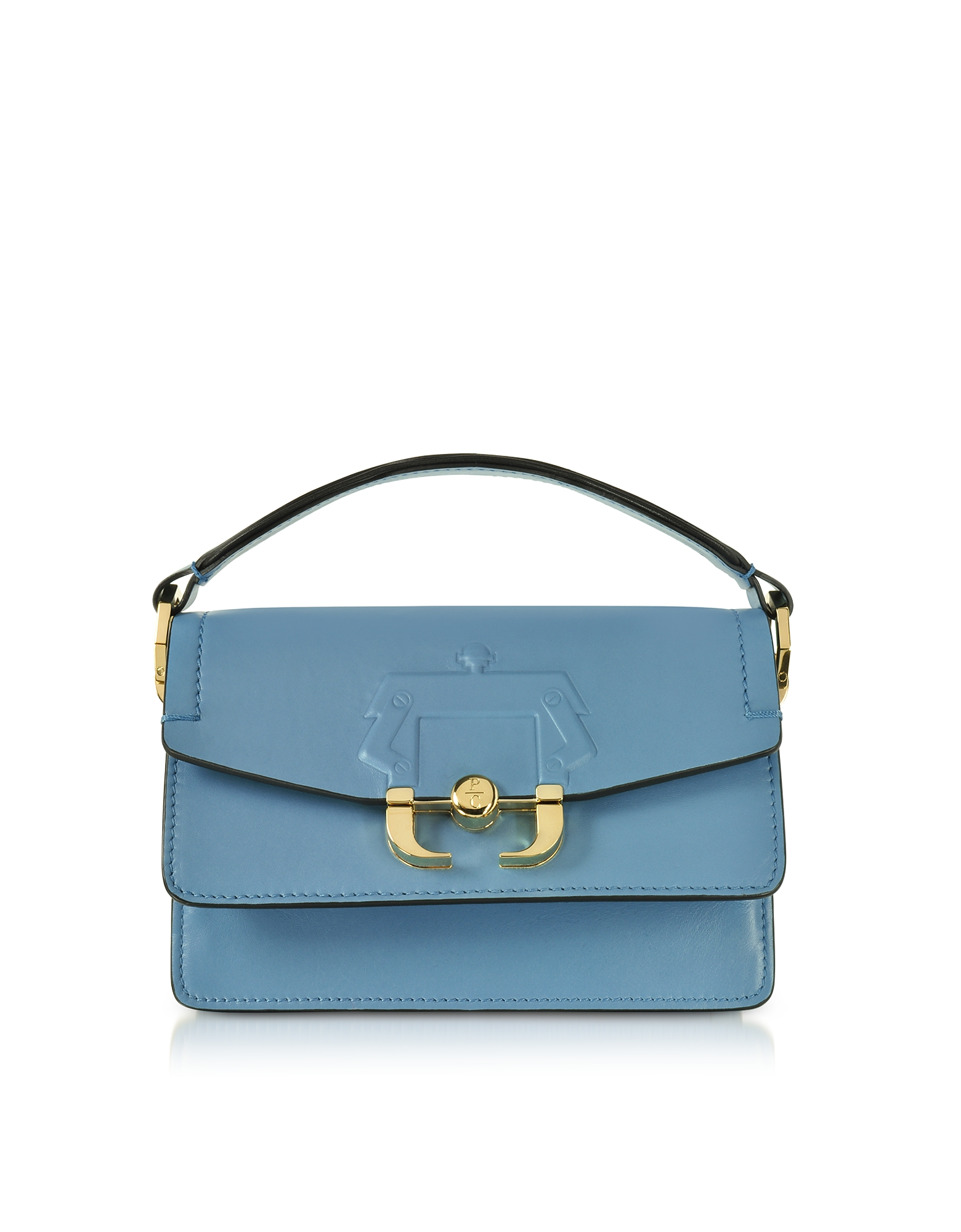Paula Cademartori Handbags, Lichen Blue Leather Twi Twi Bag