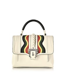 Petite Faye White Leather Satchel Bag - Paula Cademartori