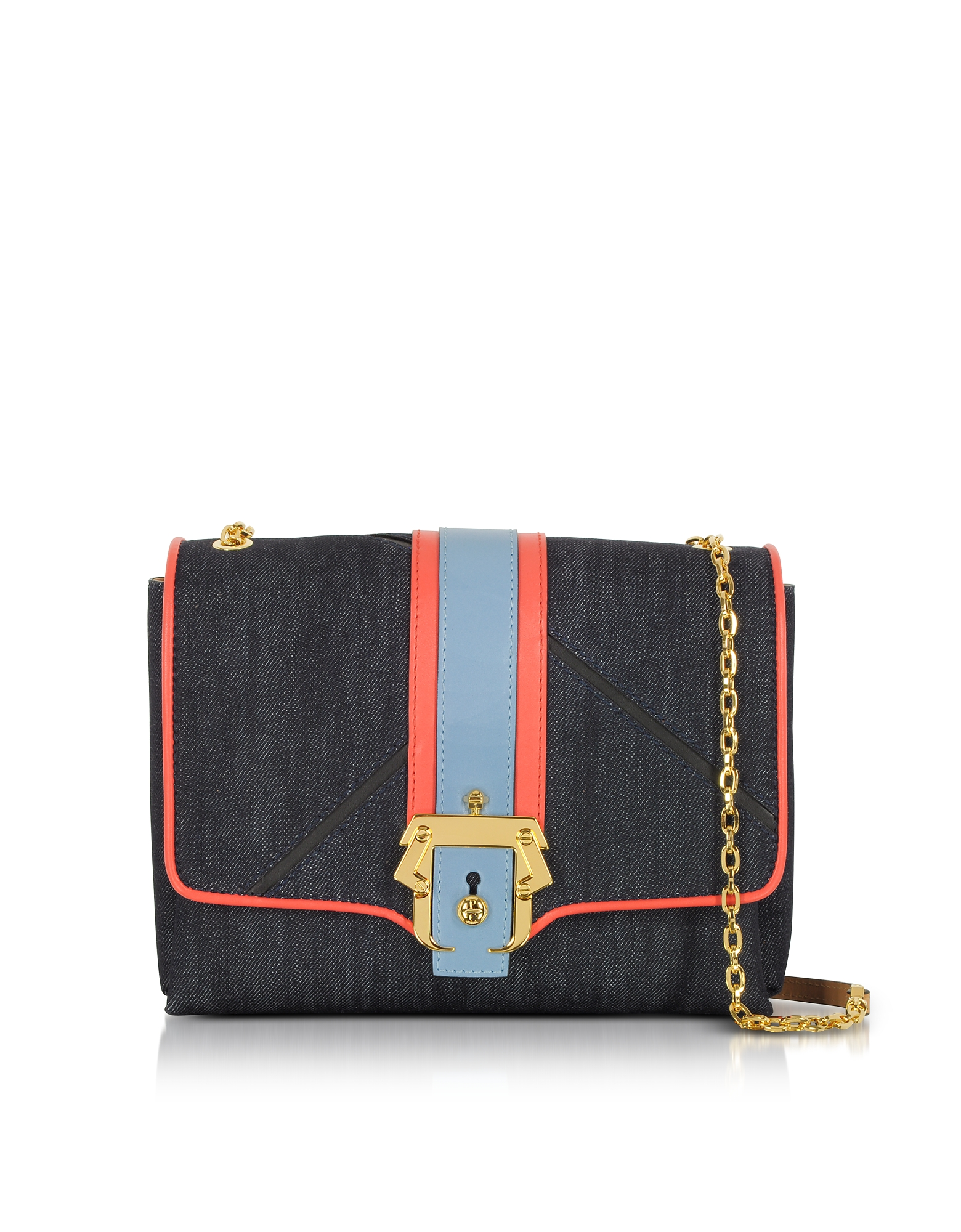 Image of Paula Cademartori Designer Handbags, Alice Boho Indigo Denim Shoulder Bag