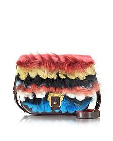 Babeth Multicolor Leather and Fur Bag - Paula Cademartori