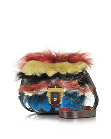 Beth Multicolor Leather and Fur Bag - Paula Cademartori
