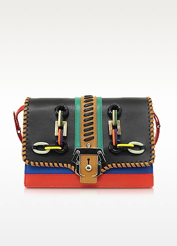 Tatiana Multicolor Leather Shoulder Bag - Paula Cademartori