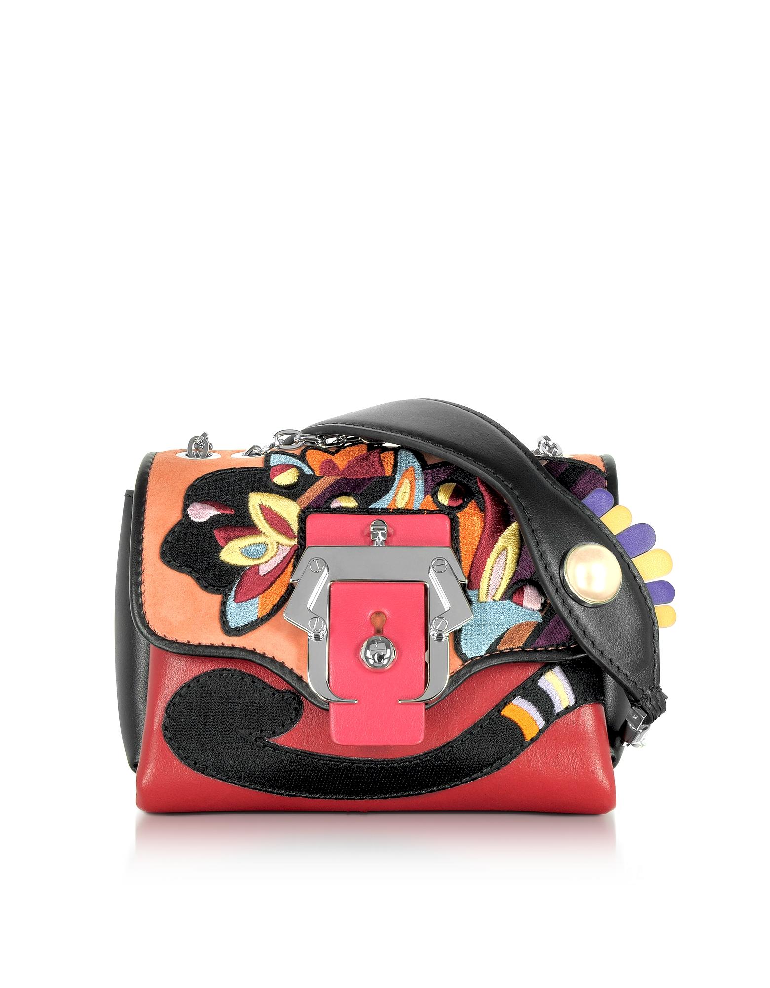 Фото Kate - Разноцветная Кожаная Сумка Через Плечо с Жемчужиной. Купить с доставкой