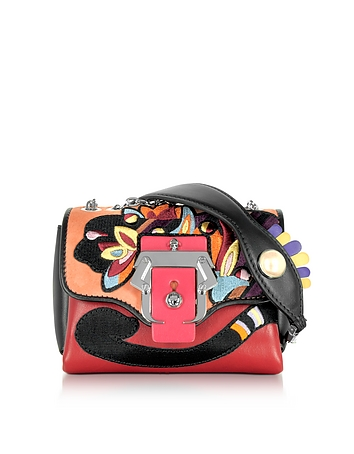 Kate Multicolor Leather Crossbody Bag W/Pearl