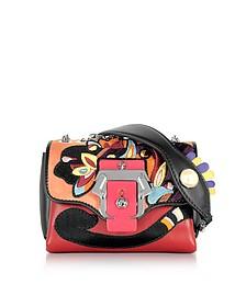 Kate Multicolor Leather Crossbody Bag W/Pearl - Paula Cademartori