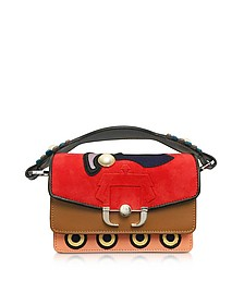 Twi Twi Leather and Suede Shoulder Bag w/Pearl - Paula Cademartori