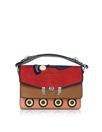 Paula Cademartori - Twi Twi Leather and Suede Shoulder Bag w/Pearl