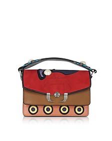 Twi Twi Leather and Suede Shoulder Bag w/Pearl - Paula Cademartori