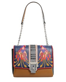 Alice Leather and Suede Shoulder Bag w/Chain - Paula Cademartori