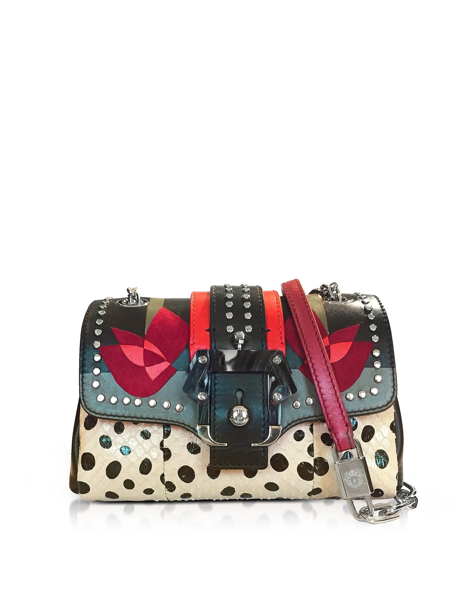 Multicolor Leather Kaia Love Shoulder Bag