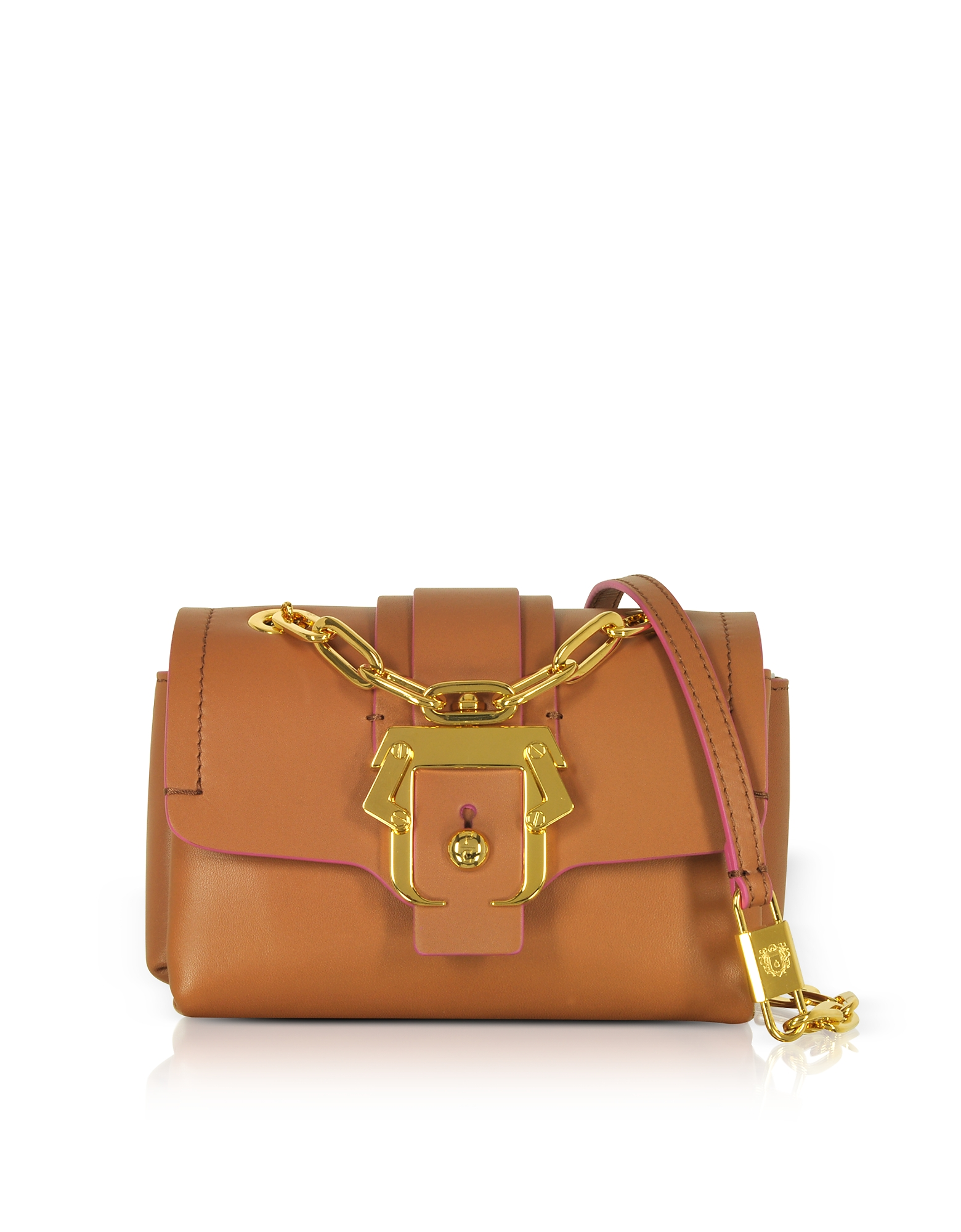 Image of Paula Cademartori Designer Handbags, Kaia Monocolor Pecan Brown Shoulder Bag