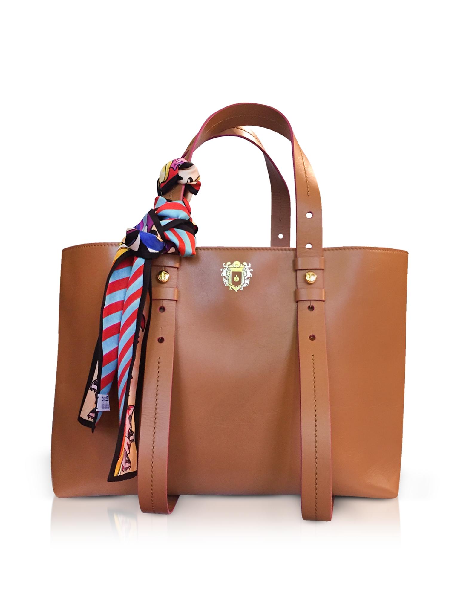 Helen Large Pecan Brown Tote Bag