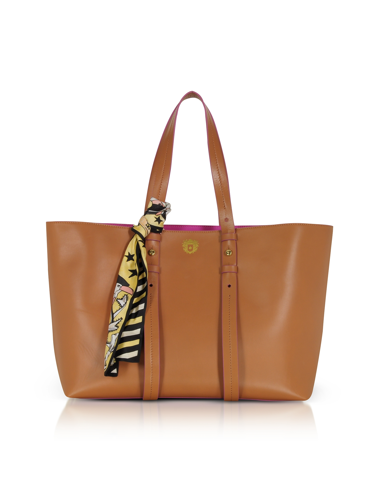 Image of Paula Cademartori Designer Handbags, Helen Large Pecan Brown Tote Bag