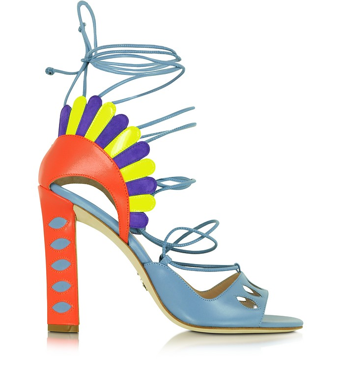 Lotus Multicolor Leather Lace-up Sandal - Paula Cademartori