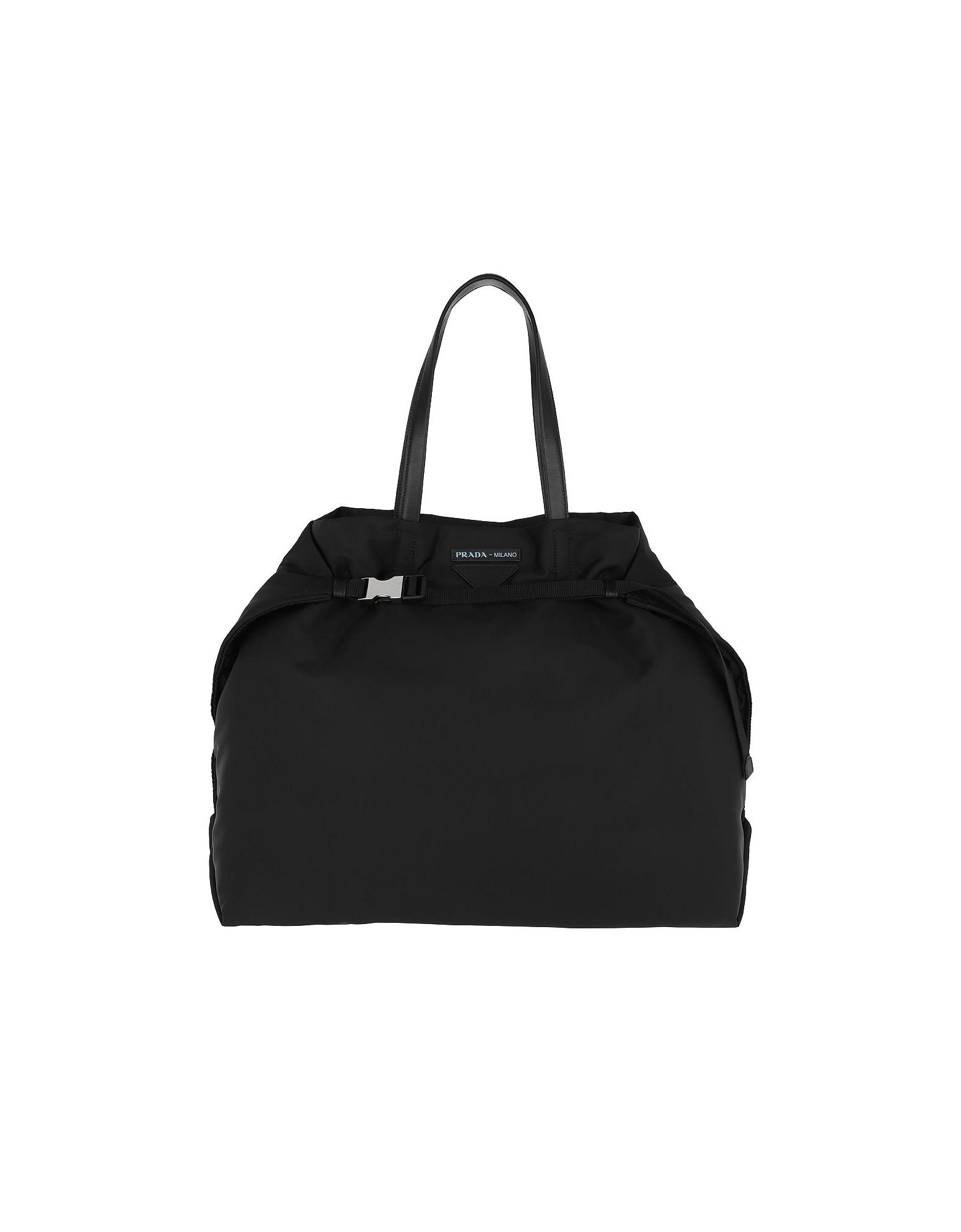 Etichetta Tote Bag Nylon Black