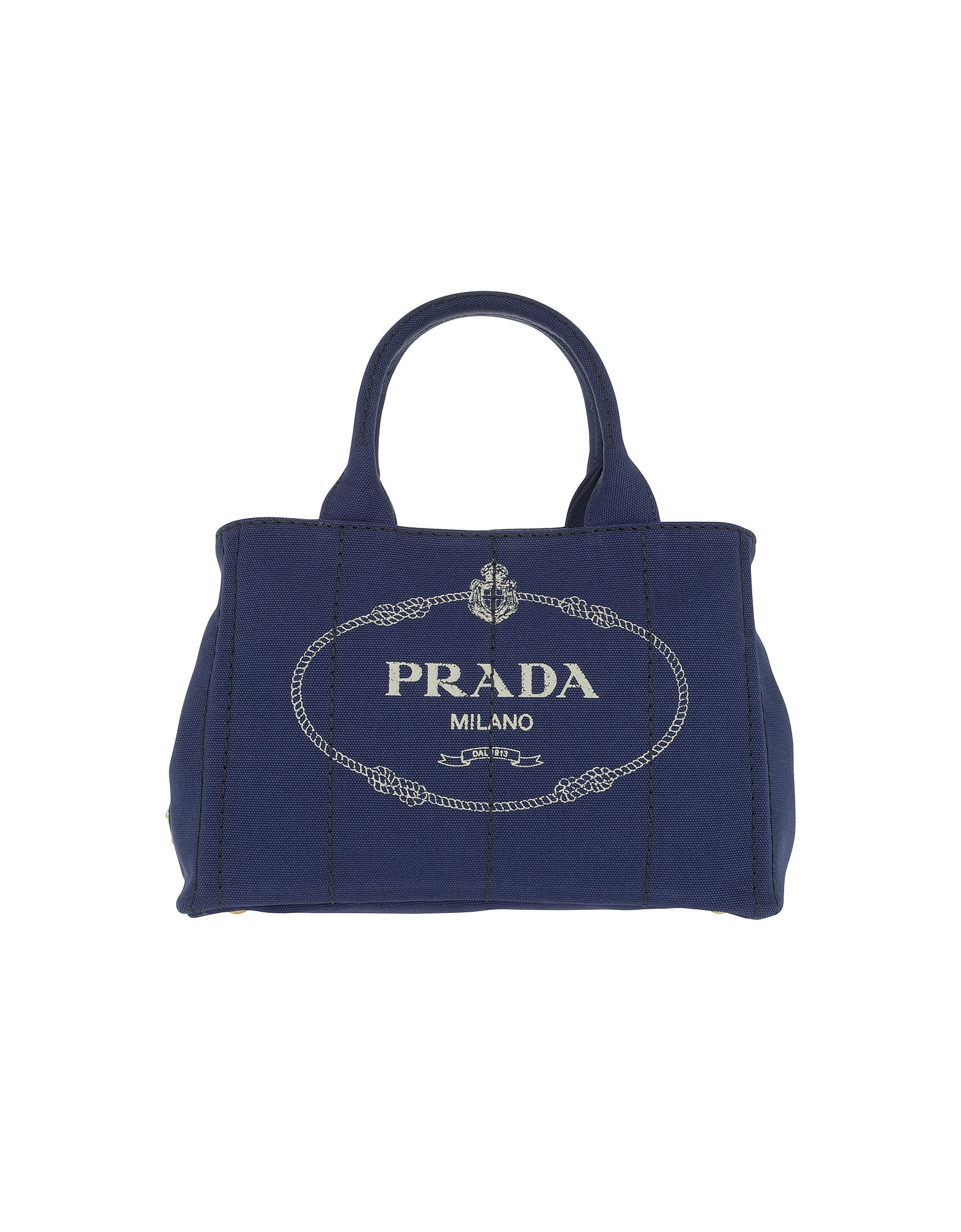 Prada Handbags, Canapa Shopping Bag Bluette/Talco