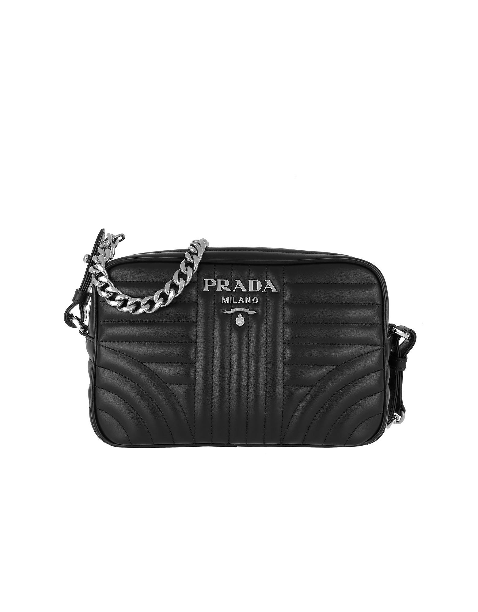 793eb6e522c0 Prada Designer Handbags, Soft Calf Diagramme Crossbody Nero | £1,025.00 |  Port