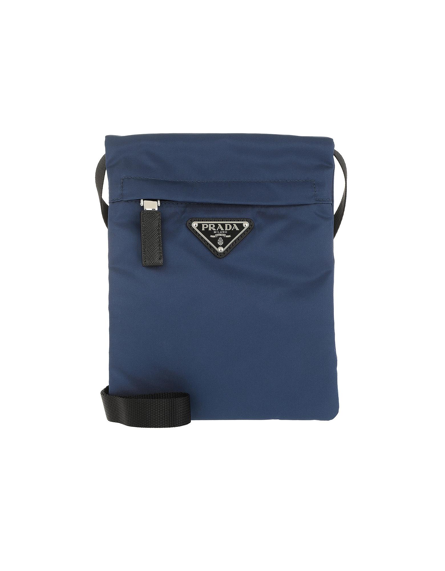Technial Fabric Shoulder Bag Royal