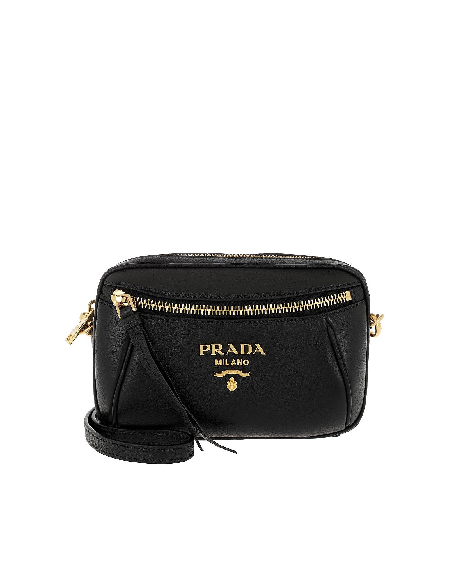 Grained Leather Belt Bag Black