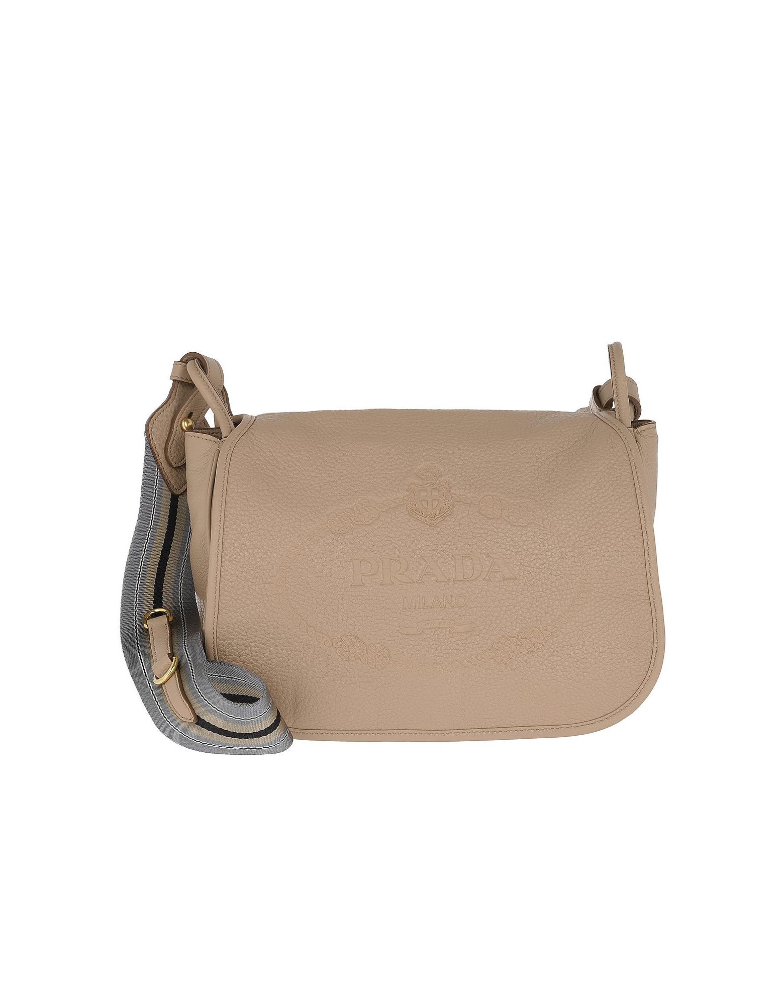 Prada Handbags, Crossbody Bag Leather Cammeo