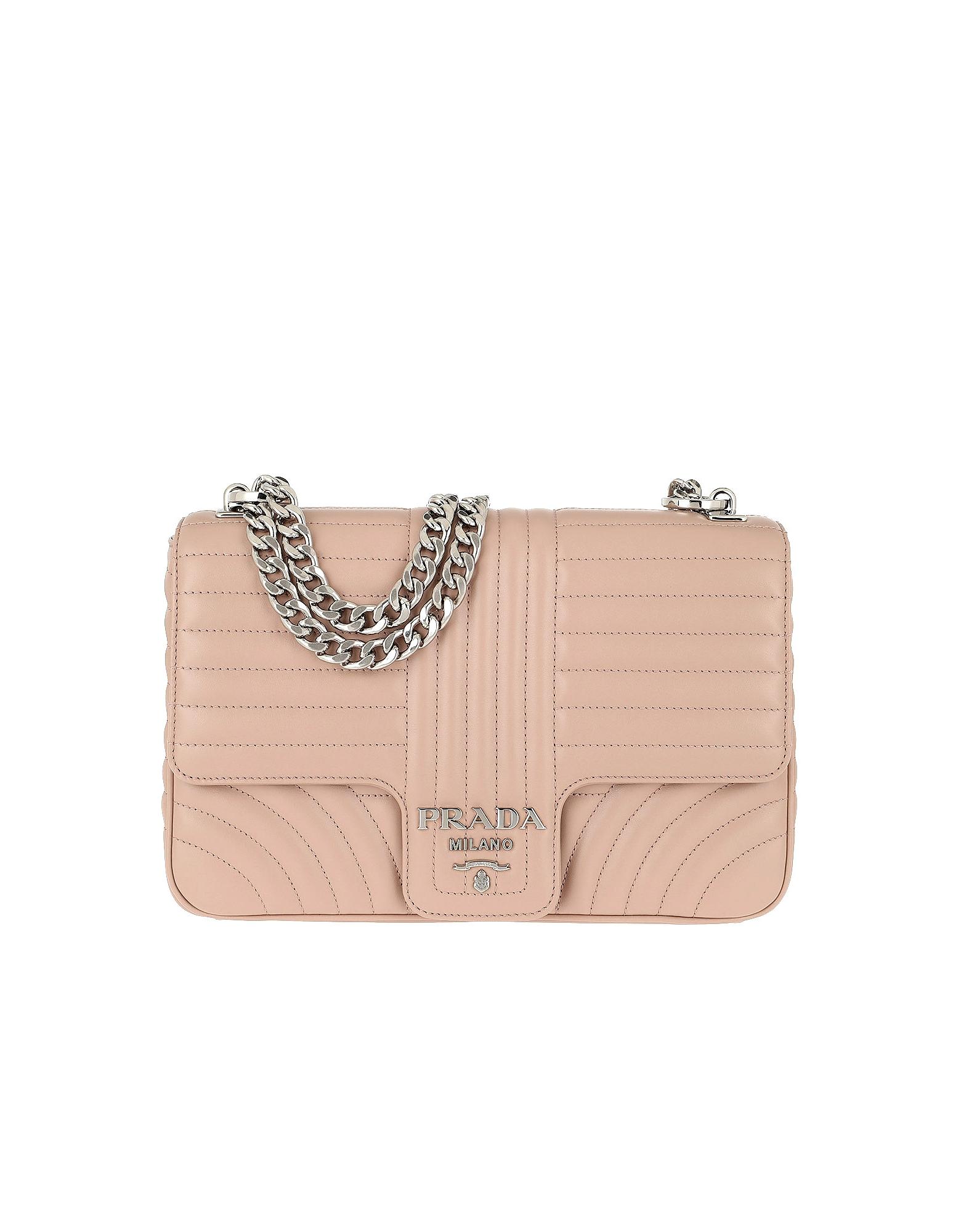 Prada Handbags, Diagramme Leather Shoulder Bag Cipria