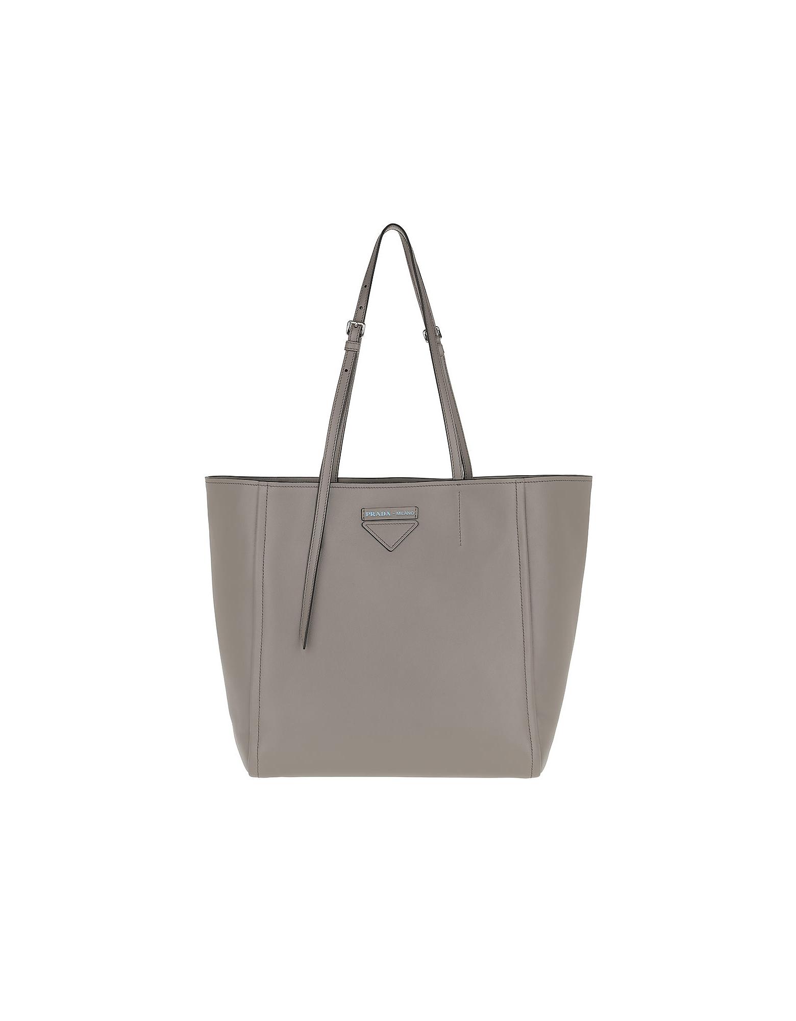 Prada Handbags, Grace Leather Tote Argilla