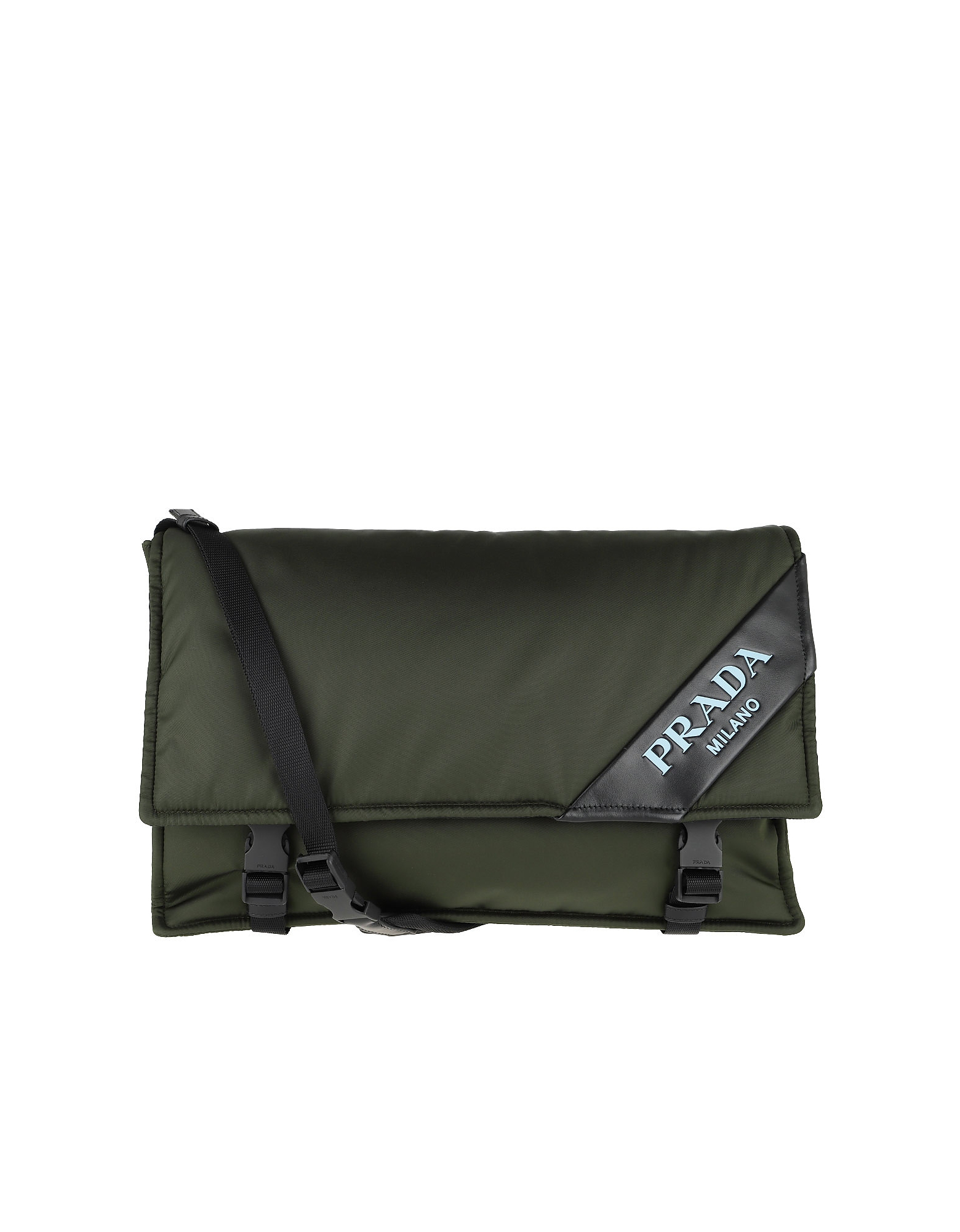 Logo Crossbody Bag Large Nylon Militare