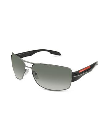 Rectangle Metal Frame Sunglasses