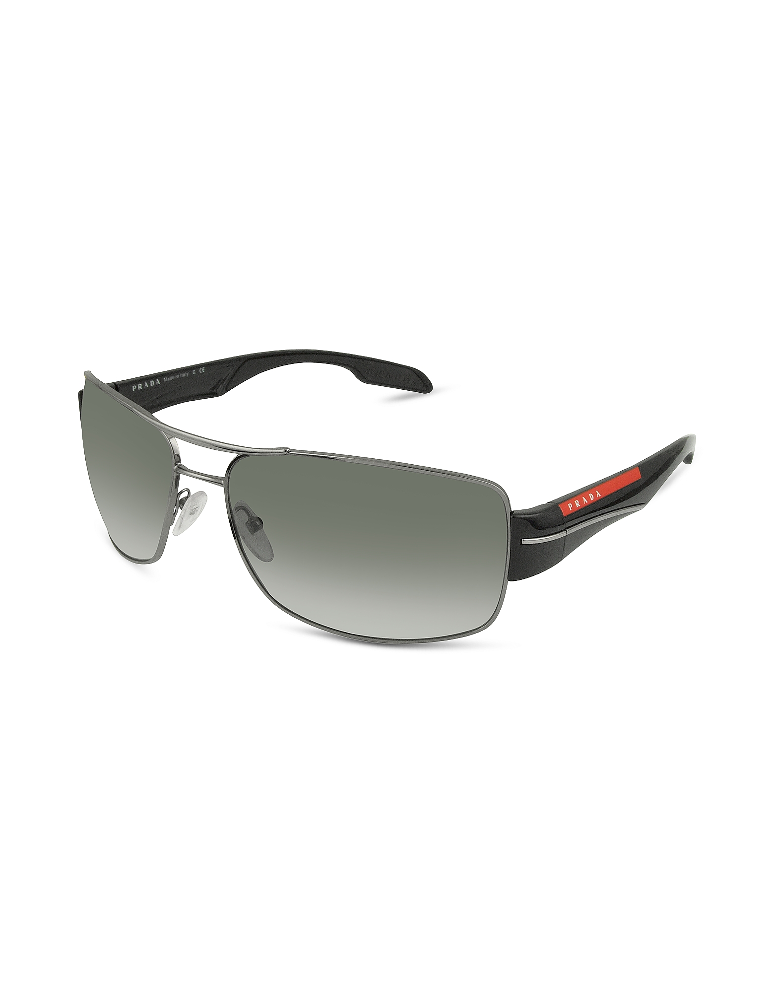 Prada Designer Sunglasses, Rectangle Metal Frame Sunglasses