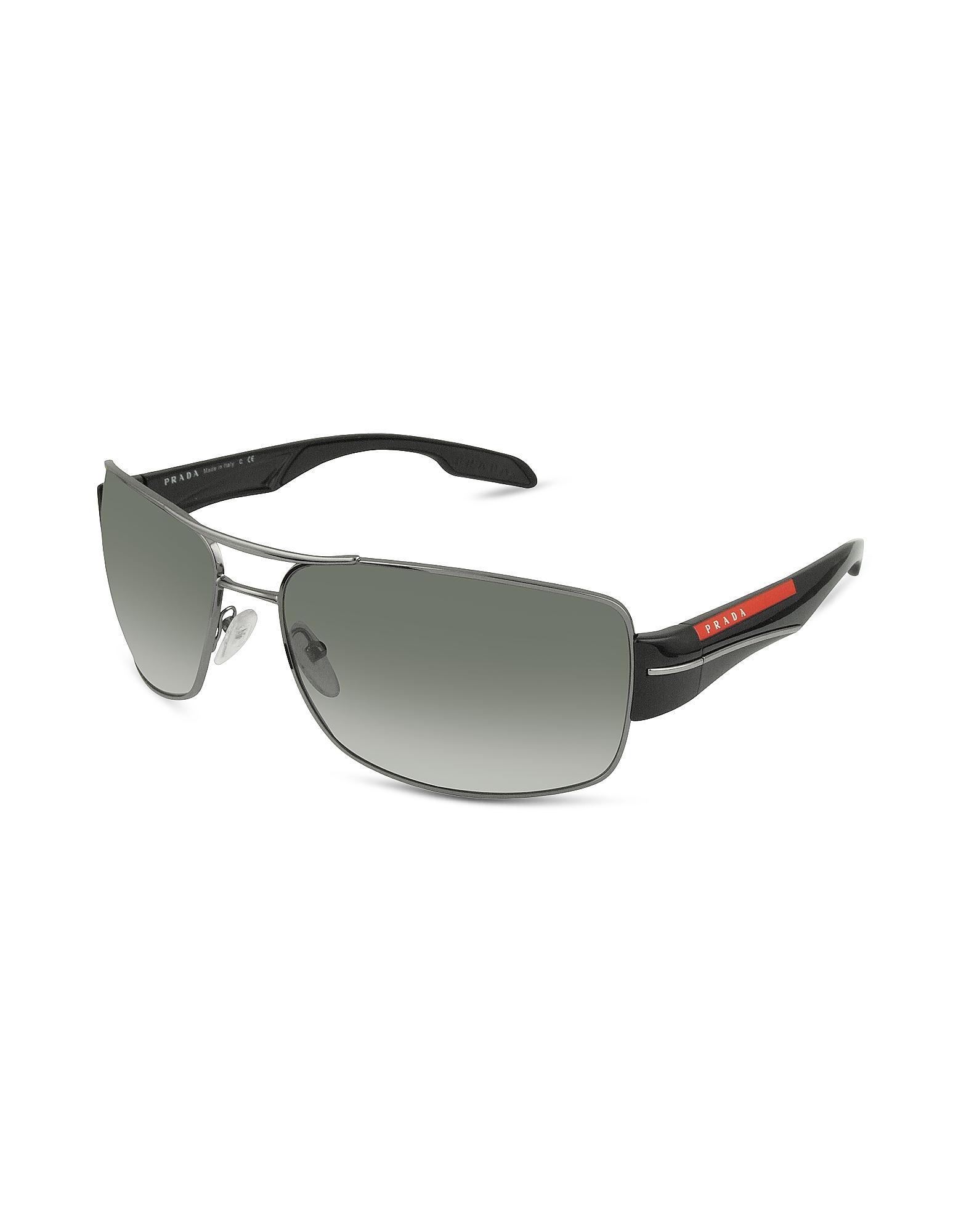 Prada Sunglasses, Rectangle Metal Frame Sunglasses