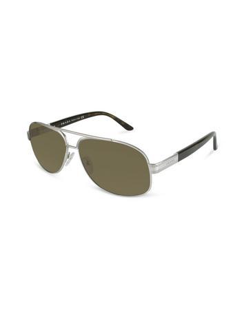 Prada Signature Metal Aviator Sunglasses