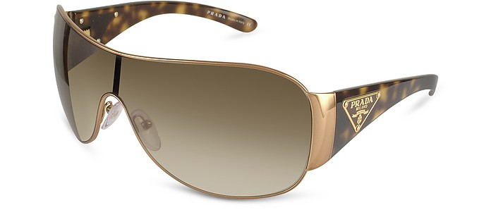 Triangle-Crest Shield Sunglasses  - Prada