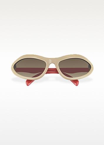 Logo Plastic Sunglasses - Prada