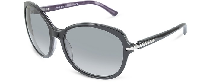 Round Black & Purple Sunglasses - Prada