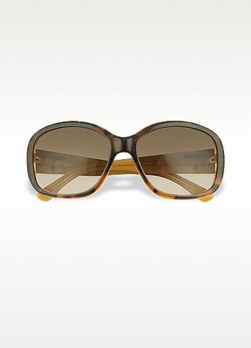 Signature Temple Plastic Sunglasses - Prada