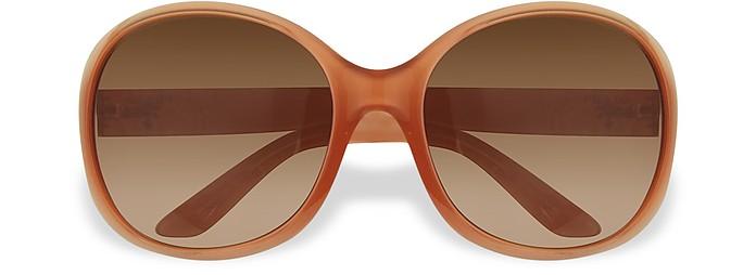 Round Plastic Sunglasses - Prada