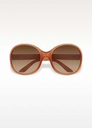 Sonnenbrille mit rundem Kunststoffrahmen - Prada