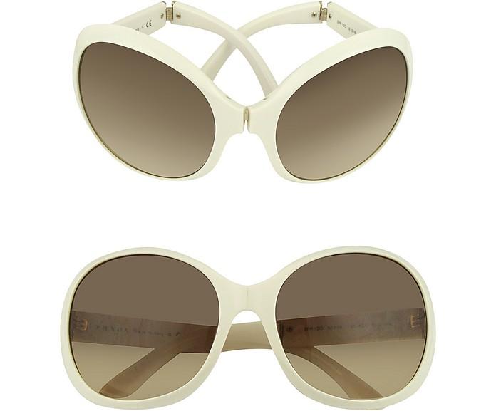 Large Round Foldable Sunglasses - Prada