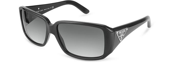 Triangle-Crest Rectangular Sunglasses - Prada
