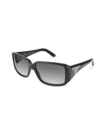 Prada Triangle-Crest Rectangular Sunglasses