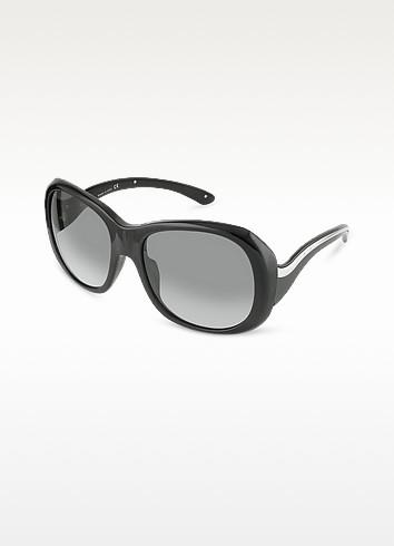 Signature Wavy Temple Round Sunglasses - Prada