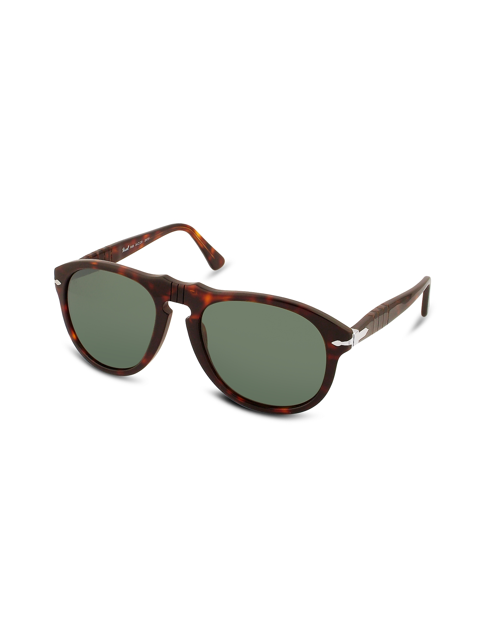 Persol Designer Sunglasses, Arrow Signature Aviator Plastic Sunglasses