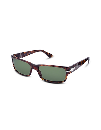 Persol - Arrow Signature Rectangular Plastic Sunglasses